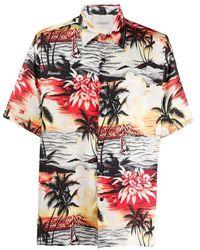 Laneus Hawaiian Printed Shirt - Rood
