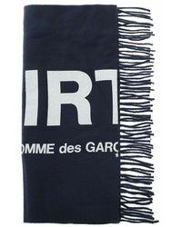 Comme des Garçons Logo print scarf - Bleu