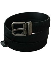Dolce & Gabbana Metal Buckle Belt - Schwarz