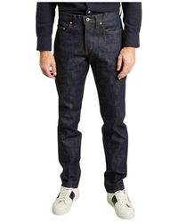Naked & Famous Jean Weird Guy - Blauw