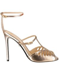 ALEVI Sandals In Leather - Geel