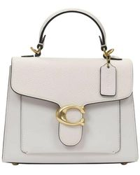 COACH Tabby Top Handle 20 Bag - Wit