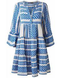 Devotion Ella Cotton Dress Dress - Blauw