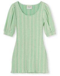 Cecilie Copenhagen Alisha Short Dress - Vert