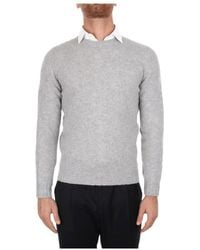 Fedeli 4ui07022 Choker Sweater - Grijs