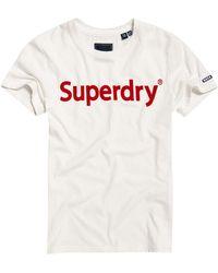 Superdry Flock Entry Tee - Wit