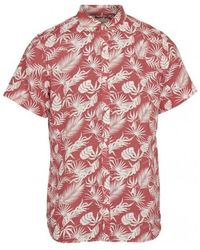 Knowledge Cotton Apparel Short Sleeve Shirt - Rood