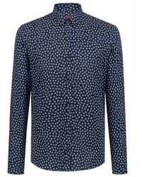 BOSS by Hugo Boss Overhemd Ero3-w Shirt - Blauw