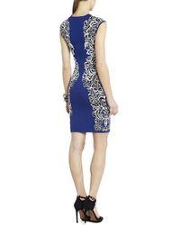 Hogan Ellena Jacquard Lace Dress Azul
