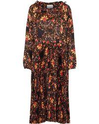 Second Female Power Ls Maxi Dress - Bruin