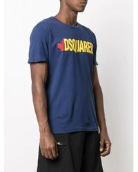 DSquared² T-Shirt Azul