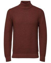 SELECTED Gestructureerde Sweater - Bruin