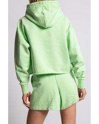 Holzweiler Classic jersey hoodie - Vert