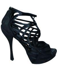 Dior Open Toe Heels - Noir