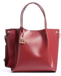 Armani Exchange Leather Handbag - Rood