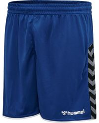 Hummel Authentic Poly Shorts - Blauw