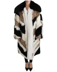 Dolce & Gabbana - Schapen Fur Shearling Cape Jacket Jas - Lyst
