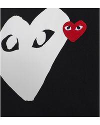 COMME DES GARÇONS PLAY T-shirt with heart Negro