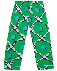Brain Dead Bubble Pajama Pantalone - Groen