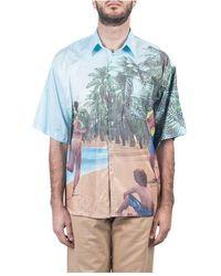 Used Future Camicia Con Stampa - Blauw
