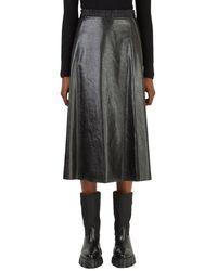 Moncler Faux-leather Skirt - Zwart