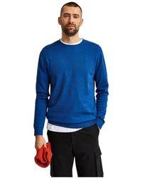 SELECTED 16074682 Berg Knitwear - Blauw