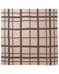 By Malene Birger Milou Checked Wool Square Scarf - Roze