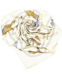 Hermès QuImport le Flacon Silk Scarf - Bianco