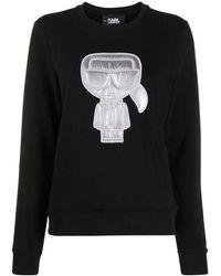 Karl Lagerfeld Sweater / Puffer Sweatshirt - Nero