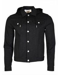 Alexander McQueen Buttoned Hoodie - Zwart