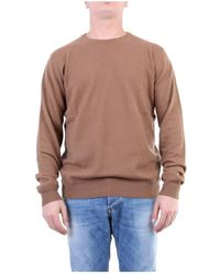 Jeordie's 90617 Crewneck Knitwear - Bruin