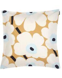 Marimekko Full Unikko Cushion Cover 50x50 Cm - Naturel