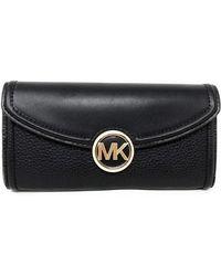 Michael Kors Fulton Large Flap Continental Wallet - Zwart