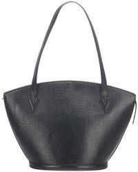 Louis Vuitton Epi Saint Jacques GM cinturino lungo in pelle - Nero