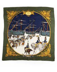 Hermès Tweedehands Marine Et Cavalerie - Groen