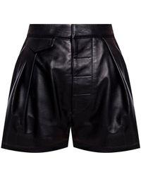 DSquared² High-waisted Leather Shorts - Zwart