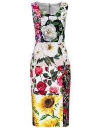 Dolce & Gabbana - Patchwork Dress - Lyst