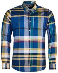 Barbour Chemise Coupe Tailleur Highland - Bleu