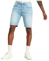 Levi's Levis 36512 0090 - 501 Hemmed Short Shorts And Bermudas Men Denim Light Blue - Blauw