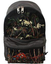 Dolce & Gabbana Zaino scuola con stampa Trees Volcano Print - Nero