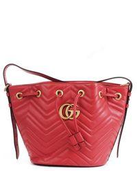 Gucci 476674d8get Bucket Bag - Rood