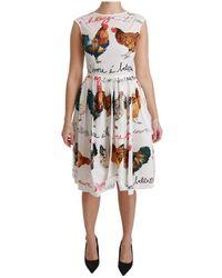 Dolce & Gabbana A-Line Minikleid - Weiß