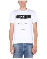 Moschino T-shirt H Logo Print - Wit