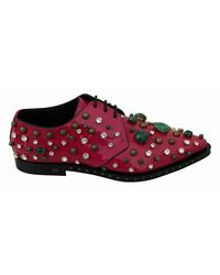 Dolce & Gabbana Crystals Dress Broque Shoes - Roze