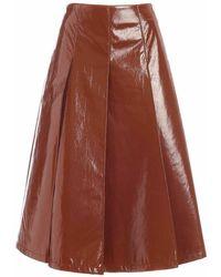 Vivetta Patent A Skirt - Bruin