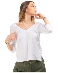 James Perse T-shirt wvd 3859 - Blanco