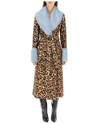 Blumarine Animalier coat - Métallisé