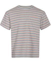 Anerkjendt T-shirt Akkikki Stripe - Grijs