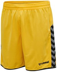 Hummel Authentic Poly Shorts - Geel