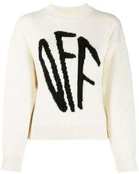 Off-White c/o Virgil Abloh Graffiti knitted jumper - Neutro